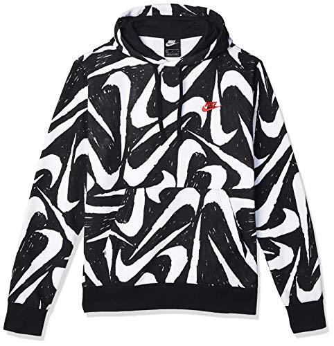 NIKE SP2020 Sweatshirt, Black/Black/University Red, S Mens