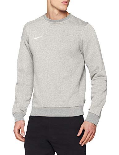 Nike Team Club Sudadera Hombre, Gris/Blanco, XL