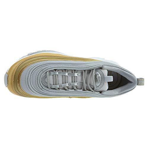 Nike W Air MAX 97 Se, Zapatillas de Entrenamiento para Mujer, Multicolor (Vast Grey/Metallic Silver/Metallic Gold 001), 38.5 EU