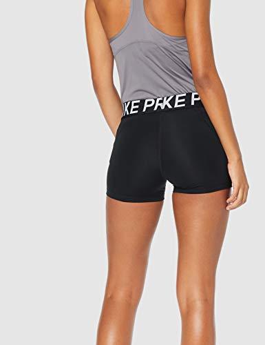 NIKE W NP Shrt 3In Pantalones Cortos, Mujer, Negro (Black/Black/White), XL