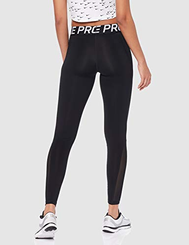 NIKE W NP Tight Pantalones de Deporte, Mujer, Black/White, M