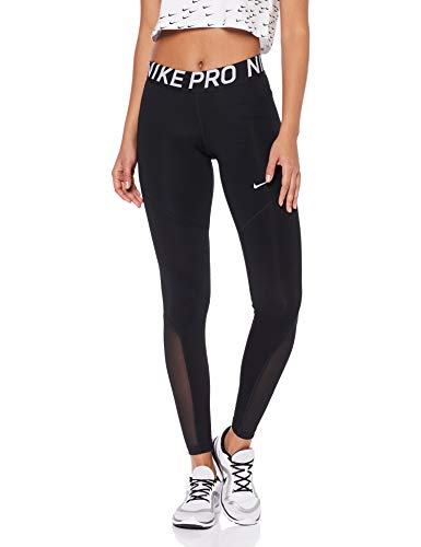 NIKE W NP Tight Pantalones de Deporte, Mujer, Black/White, S