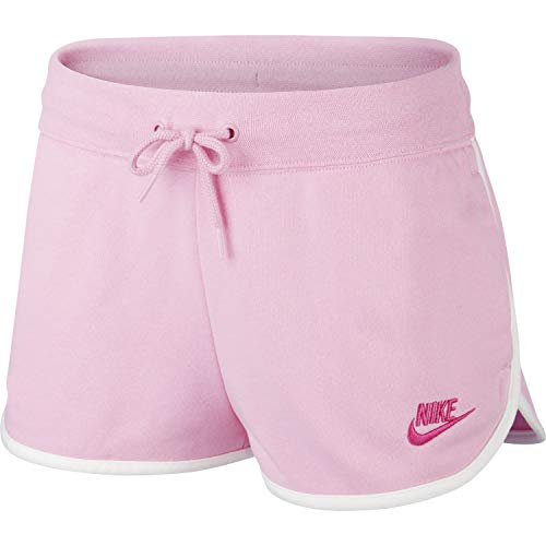 Nike W NSW HRTG Short FLC Pink AR2414-629 Rosa XS