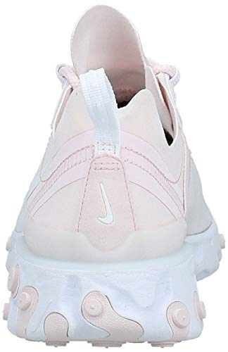 Nike W React Element 55, Zapatillas de Atletismo para Mujer, Multicolor (Pale Pink/White 600), 42 EU