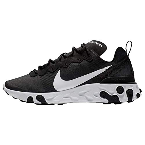 Nike W React Element 55, Zapatillas de Running para Mujer, Negro (Black/White 003), 35.5 EU