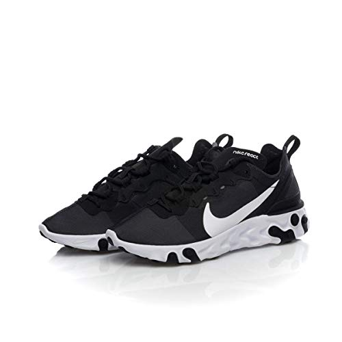 Nike W React Element 55, Zapatillas de Running para Mujer, Negro (Black/White 003), 36.5 EU