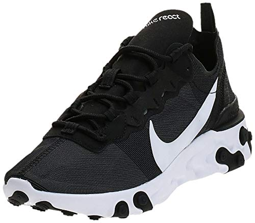 Nike W React Element 55, Zapatillas de Running para Mujer, Negro (Black/White 003), 38 EU
