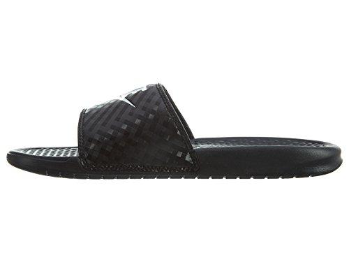 Nike Wmns Benassi JDI, Chanclas Mujer, Negro (Black/White 011), 40.5 EU