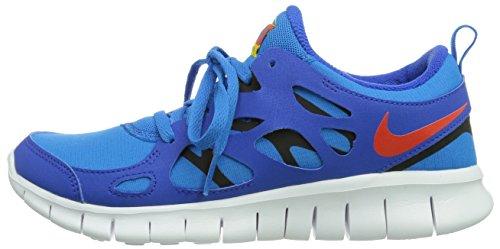 NikeFree Run 2 (GS) - zapatillas de running Niños, Azul (Hyper Cobalt/Tm Orange-Photo Blue-Black), 38