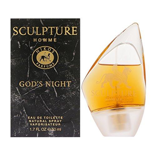 Nikos Sculpture–Homme God 's Night EDT, 1er Pack (1x 30ml)