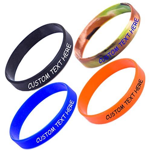 Nircsom - Pulsera de silicona personalizada, personalizable, para motivación, eventos, regalos, apoyo, causas, recaudación de fondos
