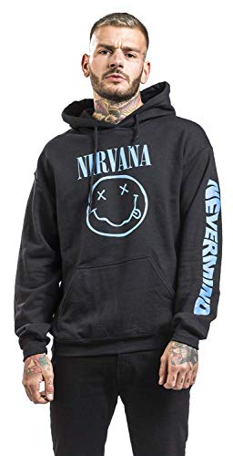 Nirvana Nevermind Smile Sudadera con Capucha Negro M