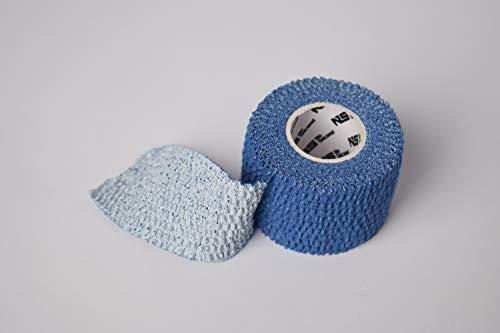 NOSECOND 6 x Pack Tape Premium de algodón elástico Adhesivo de 38mm x 4.5m (Azul)