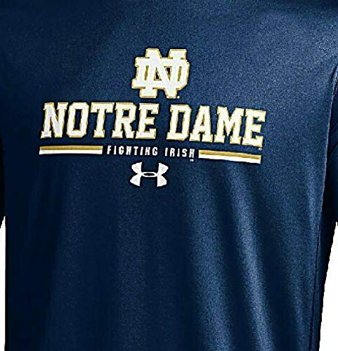 Notre Dame Fighting Irish azul palma de under armour Heatgear manga larga T Shirt, hombre Unisex, azul