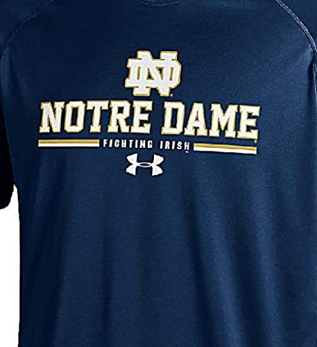 Notre Dame Fighting Irish azul palma de under armour manga corta para HeatGear T Shirt, hombre Unisex, azul