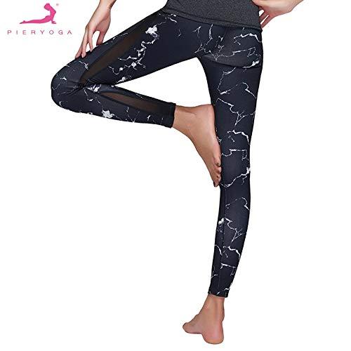 NSH PIERYOGA, Mallas para Mujer, Pantalones de Ejercicio, Pantalones Deportivos, Pantalones de Entrenamiento, Pantalones de Fitness, Ropa de Yoga con Junta de Red, Ropa Femenina
