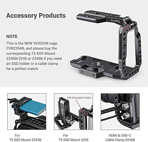 (Nueva Versión) SMALLRIG BMPCC 4K / 6K Half Cage Compatible con Blackmagic Pocket Cinema Camera 4K / 6K, Jaula con Mecanismo Anti-torsión y NATO Rail Integrados - CVB2254B