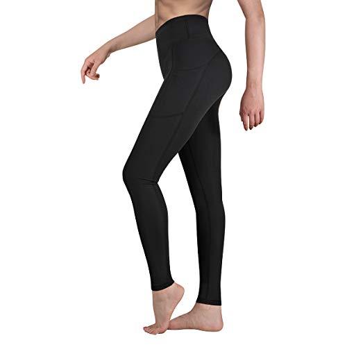 Occffy Cintura Alta Pantalón Deportivo de Mujer Leggings para Running Training Fitness Estiramiento Yoga y Pilates DS166 (Negro, M)