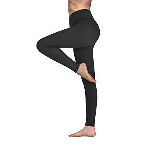 Occffy Cintura Alta Pantalón Deportivo de Mujer Leggings para Running Training Fitness Estiramiento Yoga y Pilates DS166 (Negro, S)