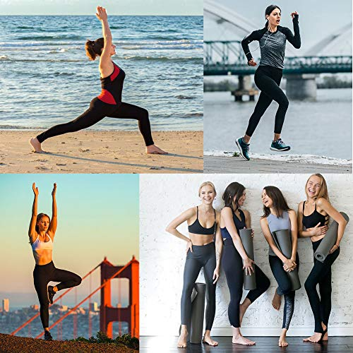 Occffy Cintura Alta Pantalón Deportivo de Mujer Leggings para Running Training Fitness Estiramiento Yoga y Pilates DS166 (Negro, XL)