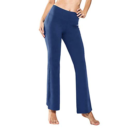 Ogeenier Pantalones de Yoga de Mujer Pantalón de Pilates de Cintura Alta Yoga Gimnasio Running Training