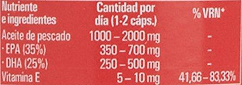 Omega 3, Cápsulas de Omega 3, Aceite de pescado Azul, 90 cápsulas, bueno para el corazón (90)