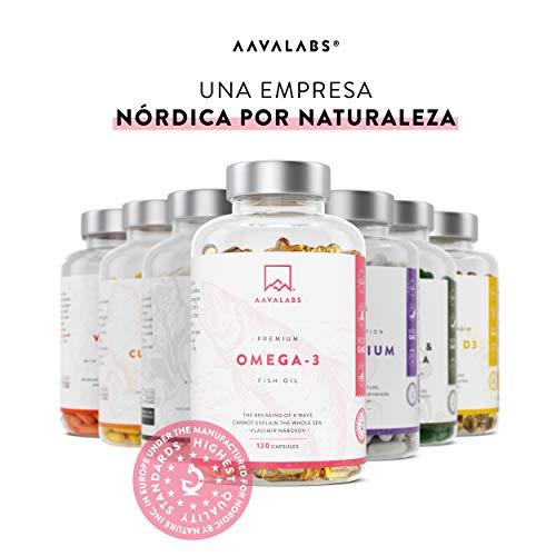 Omega 3 de Aceite de Pescado [2000 mg] - Alta Potencia - Destilado Molecularmente para mayor pureza - Fuente de Ácidos Grasos - 800 mg EPA - 400 mg DHA - 120 cápsulas blandas - suministro de 60 días