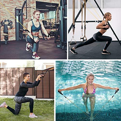OMORC Bandas Elasticas Fitness Bandas de Resistencia, Cintas Elasticas Fitness con Ancla de Puerta, Ideal para Entrenamiento de Resistencia