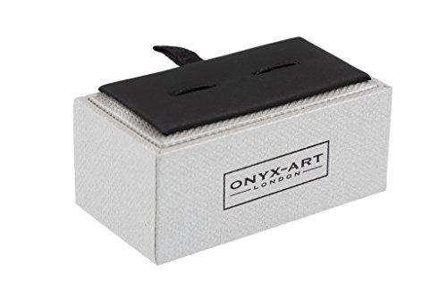 Onyx Art mancuerna de par - barco de vela en caja de regalo CK640