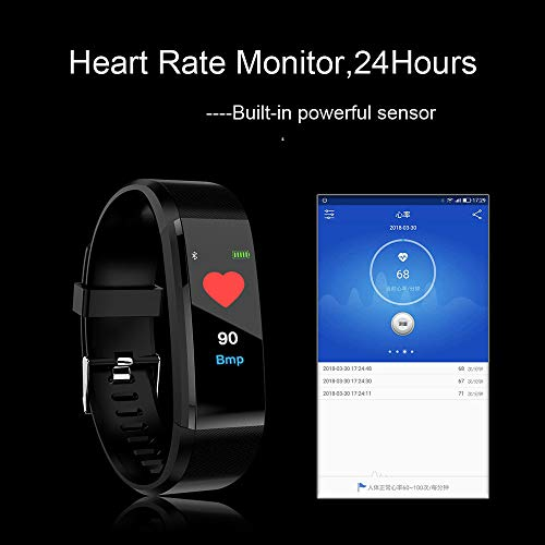 OPAKY Fitness Tracker Pantalla a Color Monitor de Ritmo Cardíaco Presión Arterial Pulsera Inteligente Relojes Deportivos GPS Impermeable Actividad Pulsera Mujer Hombre Reloj Fitness Podómetro