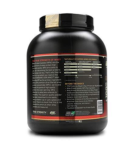 Optimum Nutrition ON Gold Standard 100% Whey Proteína en Polvo Suplementos Deportivos, Glutamina y Aminoacidos, BCAA, Galletas y Crema, 68 porciones, 2.27 kg, Embalaje puede variar