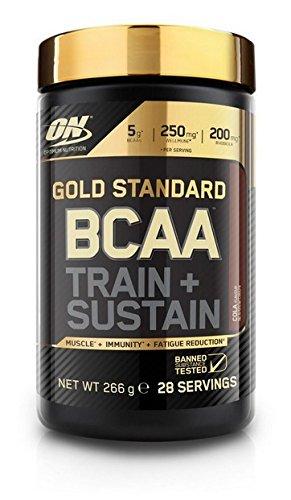 Optimum Nutrition ON Gold Standard BCAA Polvo, Suplementos Deportivos con Aminoacidos, Vitamina C, Zinc, Magnesio y Electrolitos, Cola, 28 Porciones, 266g, Embalaje Puede Variar
