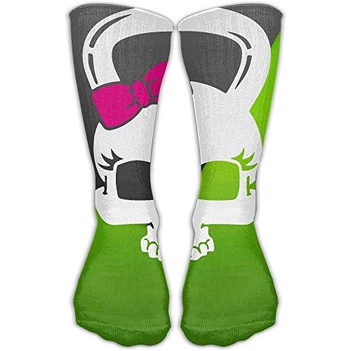 ouyjian Skull Kettlebell Men's Women's 30Cm Casual Soft Fashion Sport Long Athletic Unisex Socks