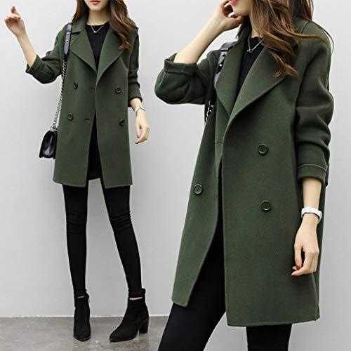 Overdose Chaqueta De Invierno para Mujer Casual Outwear Parka Cardigan Slim Coat Overcoat Invierno Abrigo