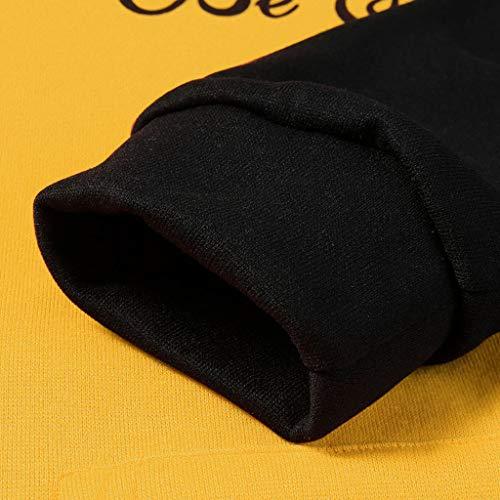 Overdose Sudadera Hombres Patchwork Slim Fit Hoodie OtoñO Moda Outwear Nueva Blusa Adolescente Top 2018 Sudadera (Medium, A-Amarillo)
