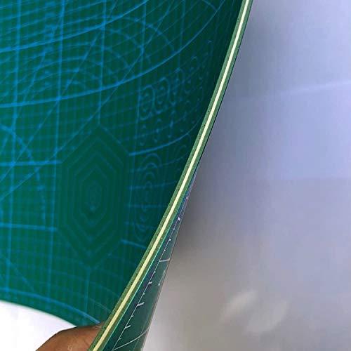 O'woda Alfombrillas de Corte A3(30 * 42 cm), 5 Capas PVC Cutting Mat Autocuración, Durable y Antideslizante, Estera para corte con Cuadrícula y Marcas (Verde)