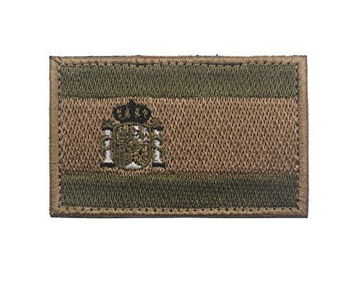 OYSTERBOY Bandera de España bordado brazalete tácticas militares de las Fuerzas Especiales de la moral de la placa de ropa de camuflaje mochila al aire libre de deportes parche (3pcs)