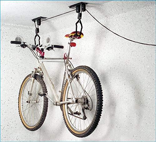 P4B Soporte-elevador de techo para bicicleta, universal, negro, certificado TÜV/GS, hasta 20 kg