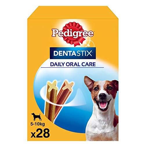 Pack de 28 Dentastix de uso diario para la limpieza dental de perros pequeños (Pack de 4)