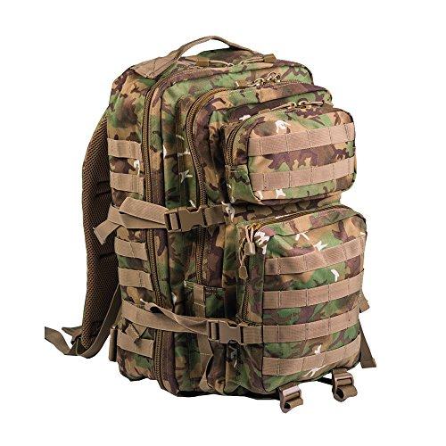 Pack de asalto MOLLE táctico con mochila de patrulla 36L, Follaje árido