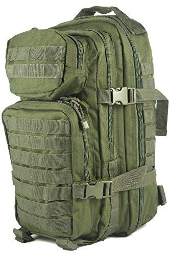 Pack de asalto MOLLE táctico con mochila de patrulla 36L, Verde oliva