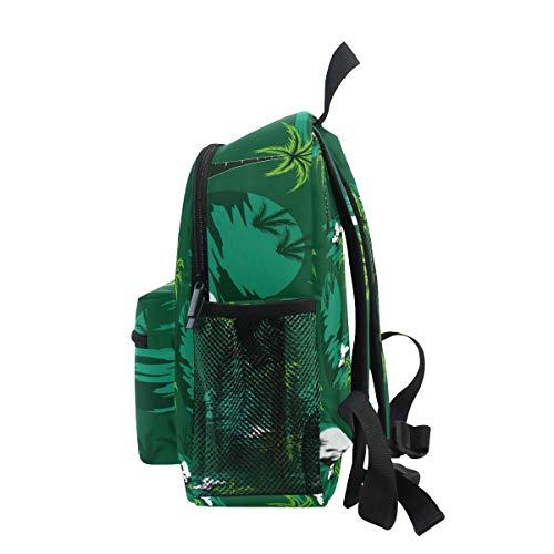 Palm Tree - Mochila para escuela, diseño de flores, color verde
