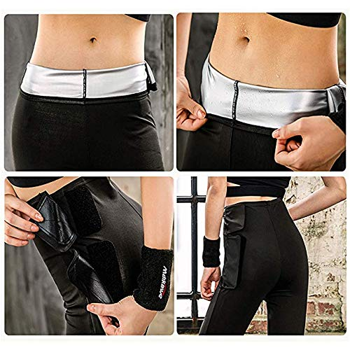 Pantalones para Adelgazar - Mallas Deportivas Mujer, Mallas Termicas de Neopreno, Pantalón de Sudoración Adelgazantes, Leggings Anticeluliticos Fitness (L)