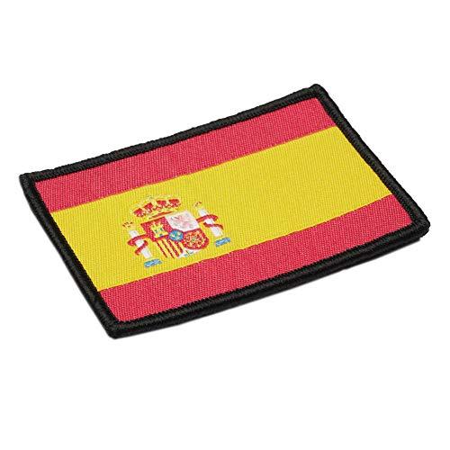 Parche Bordado Bandera España con Velcro con Colores Oficiales - Escudo bordado - Parches Moteros Bordados - Parches Militares - 75 x 50 mm