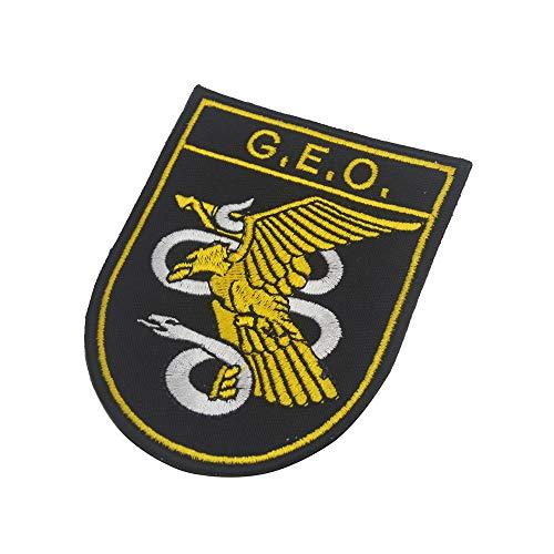 Parche de policía nacional táctico militar bordado Morale coser en emblema Patch Applique para chamarra Gear Cap Hat Mochila Spain