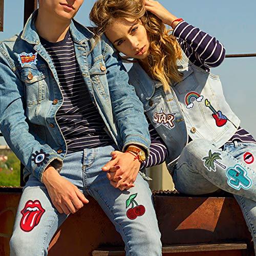 Parche de ropa 32 pcs Decorativos Parches Apliques Termoadhesivos Cute DIY Coser o Planchar para Ropa Camiseta Jeans Sombrero Pantalon Bolsas