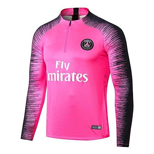 Paris Black Camiseta de Manga Larga Ropa de fútbol Primavera y otoño Apariencia Adultos Sudaderas Trajes de Entrenamiento, M