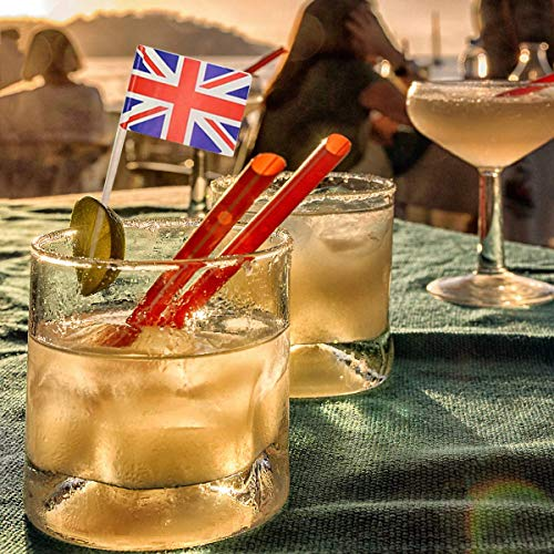 PartyWoo Palillos de dientes, Paquete de 100 Barras de Cóctel de World Flags para Eventos Internacionales y Étnicos, Alimentos para Fiestas, Copa del Mundo y Juegos Olímpicos