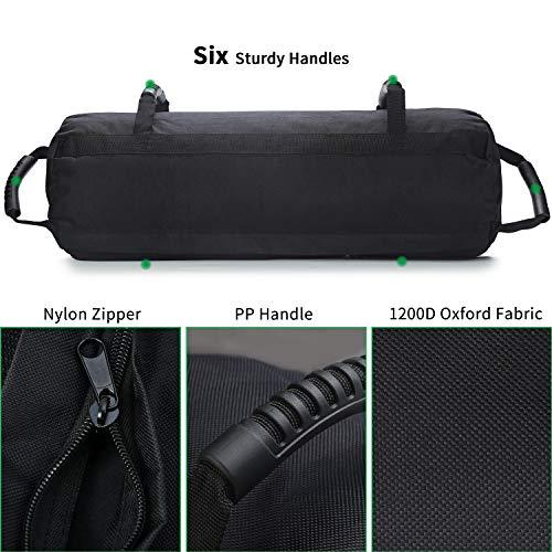 PELLOR Sandbag, Saco Peso Fitness Saco de Arena para Entrenamiento de 0 a 27 kg, Peso Ajustable Power Bag Ideal para Fitness Funcional y Potenciamiento Muscular