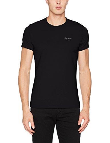Pepe Jeans Original Basic S/S PM503835 Camiseta, Negro (Black 999), Large para Hombre